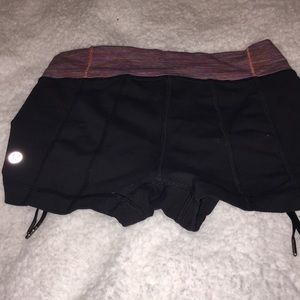 Black lululemon shorts